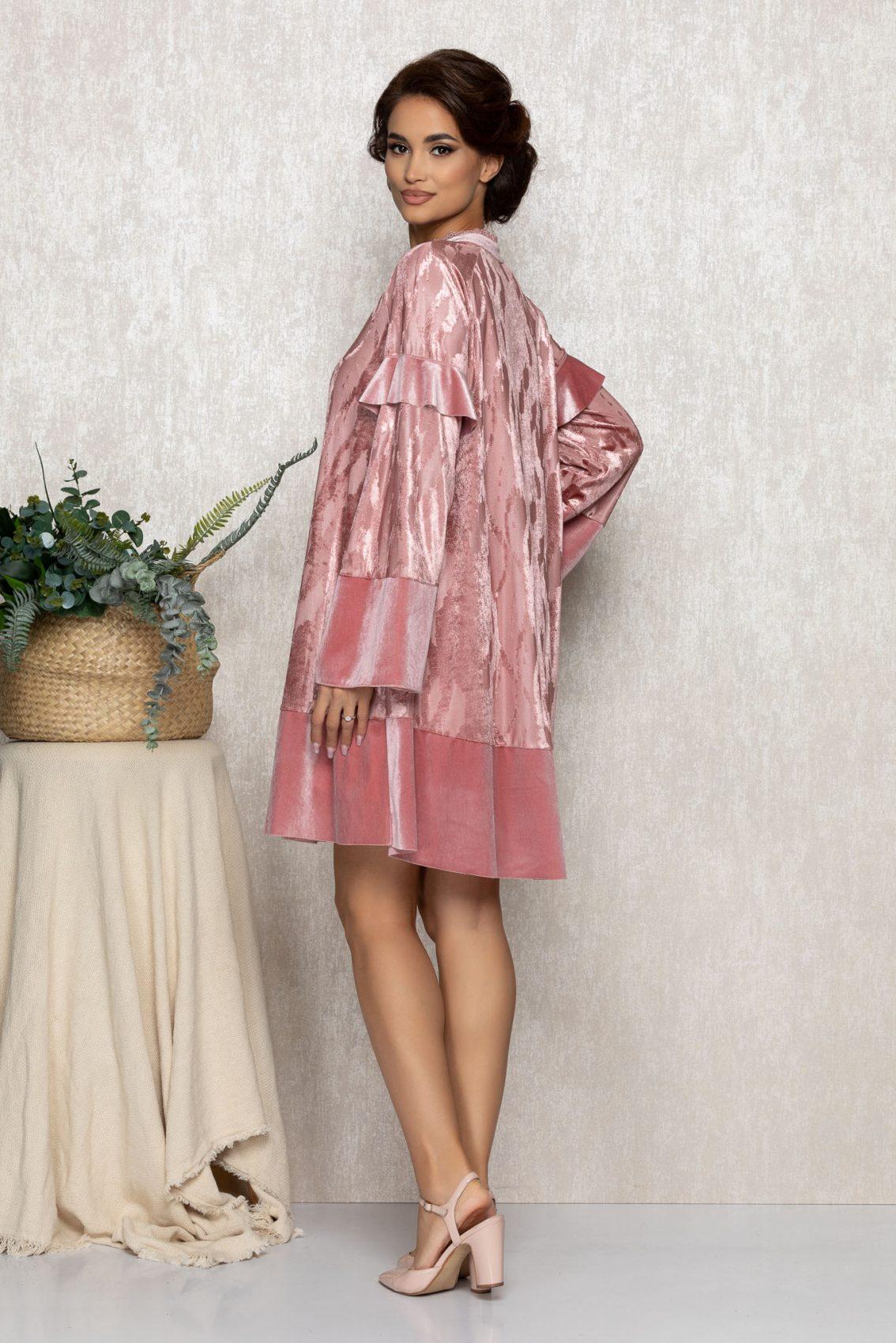 Ροζ Κλος Βραδινό Φόρεμα Coleen T214 2