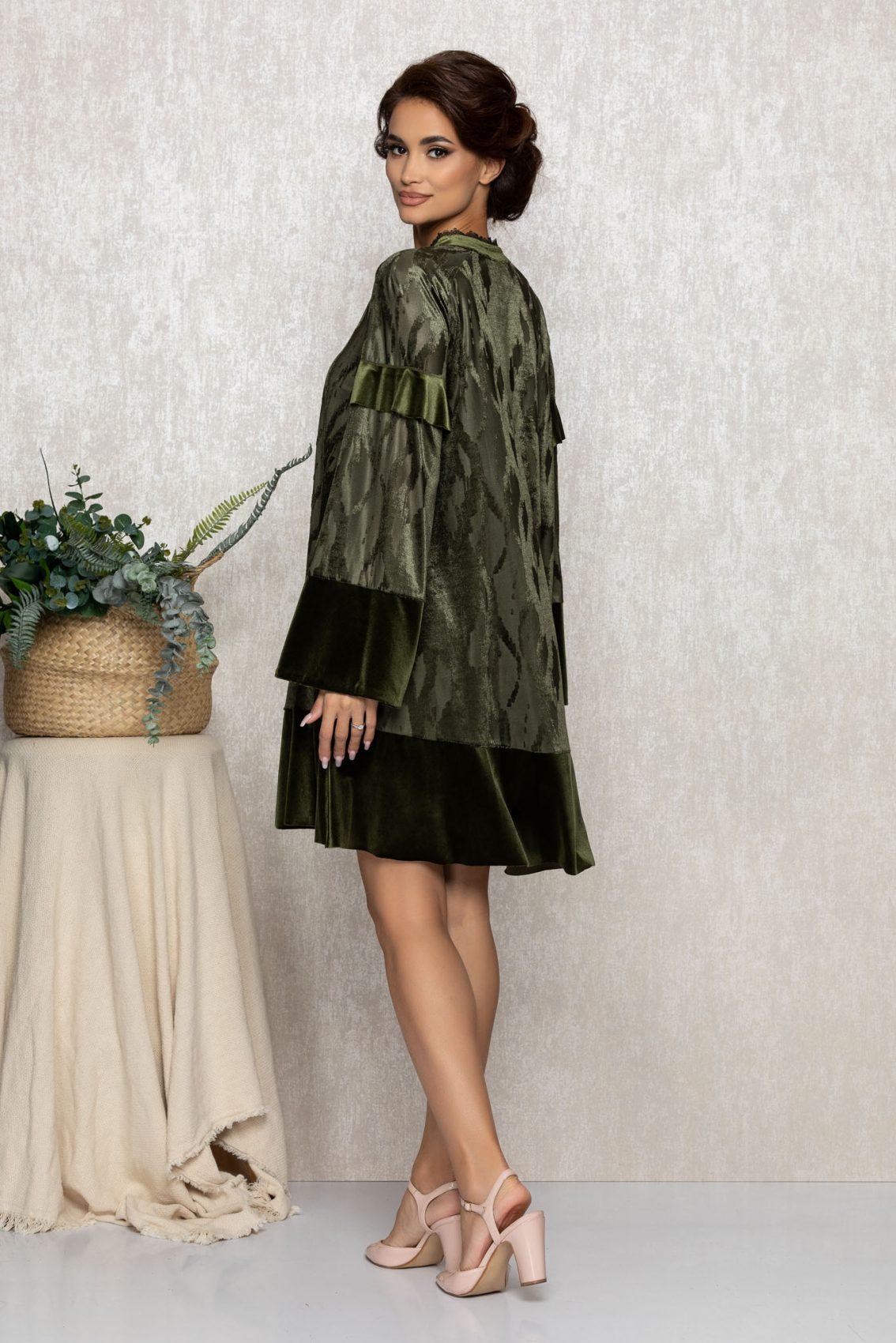 Λαδί Κλος Βραδινό Φόρεμα Coleen T213 2