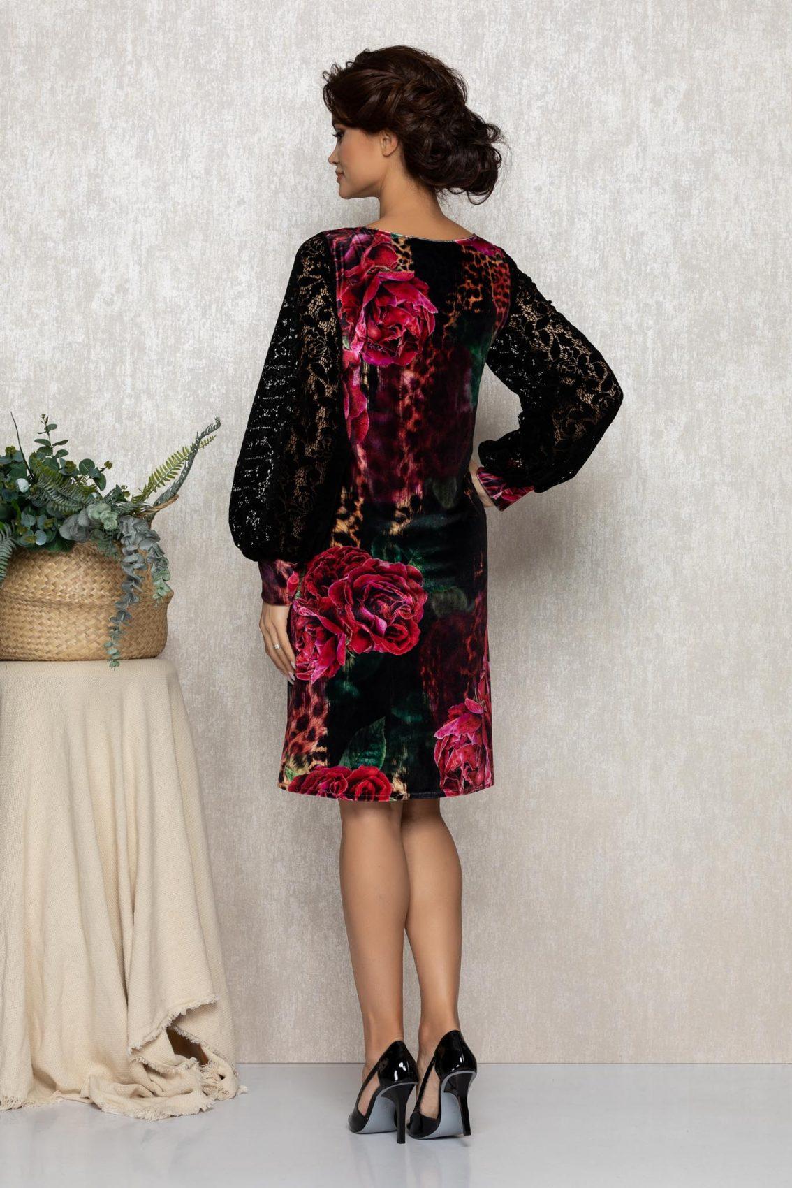 Φλοράλ Φόρεμα Με Δαντέλα Edissa T208 2