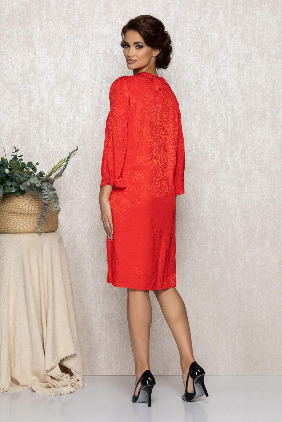 Κόκκινο Φόρεμα Gey T212 2