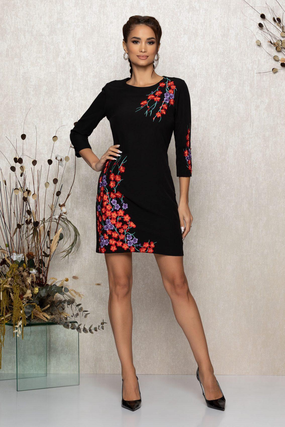 Μαύρο Φόρεμα Janessa 9211 1
