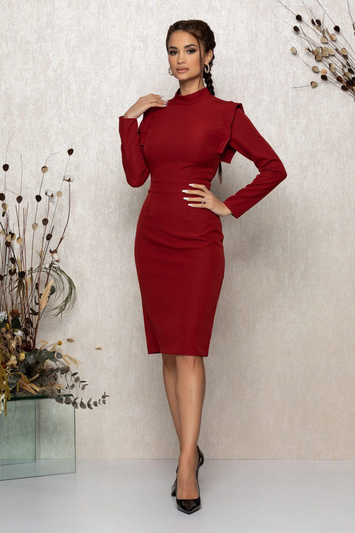 Μίντι Κεραμιδί Φόρεμα Lanna 9476 1