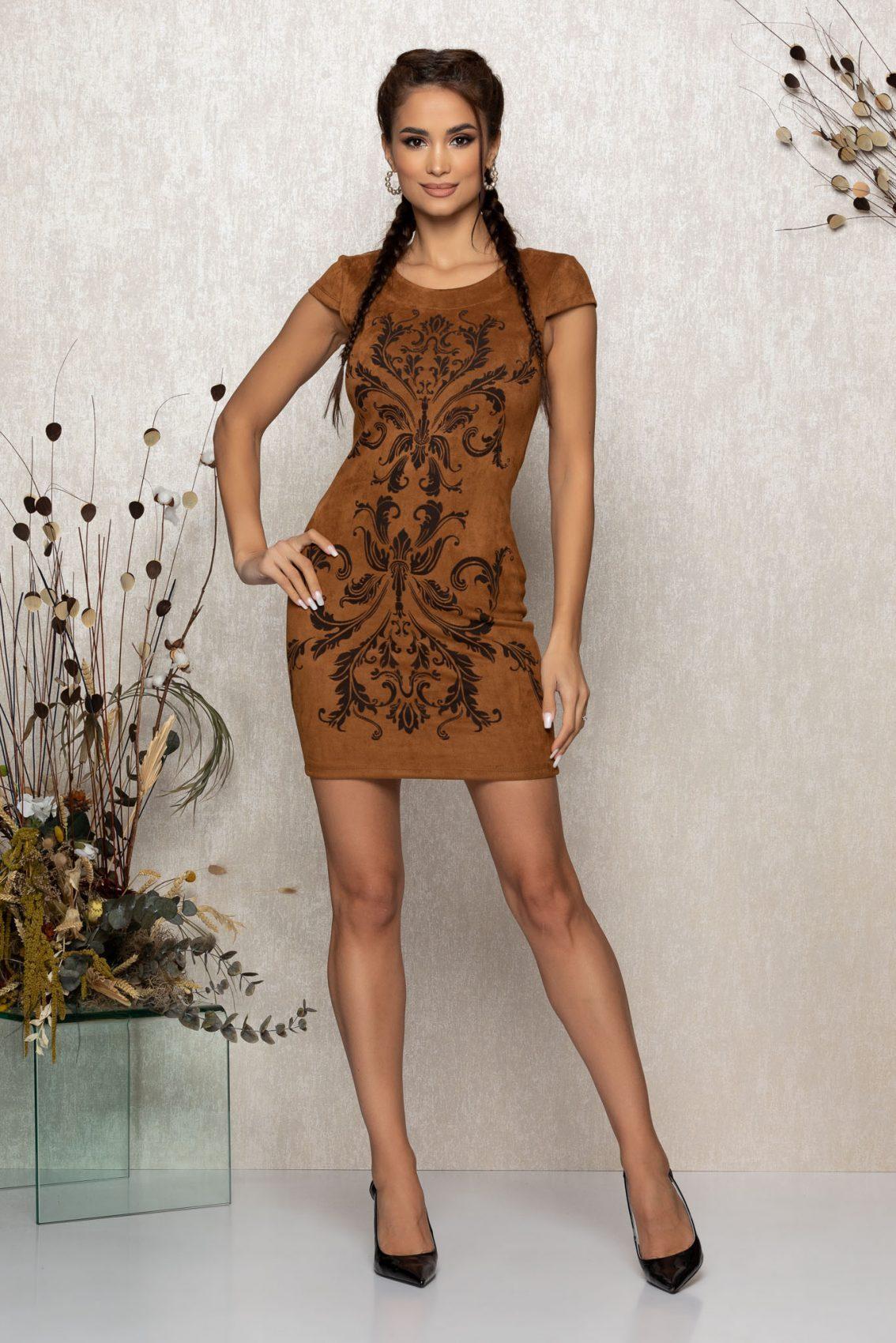 Καφέ Φόρεμα Emberly 8965 1
