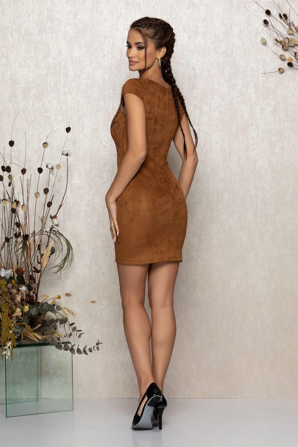 Καφέ Φόρεμα Emberly 8965 2