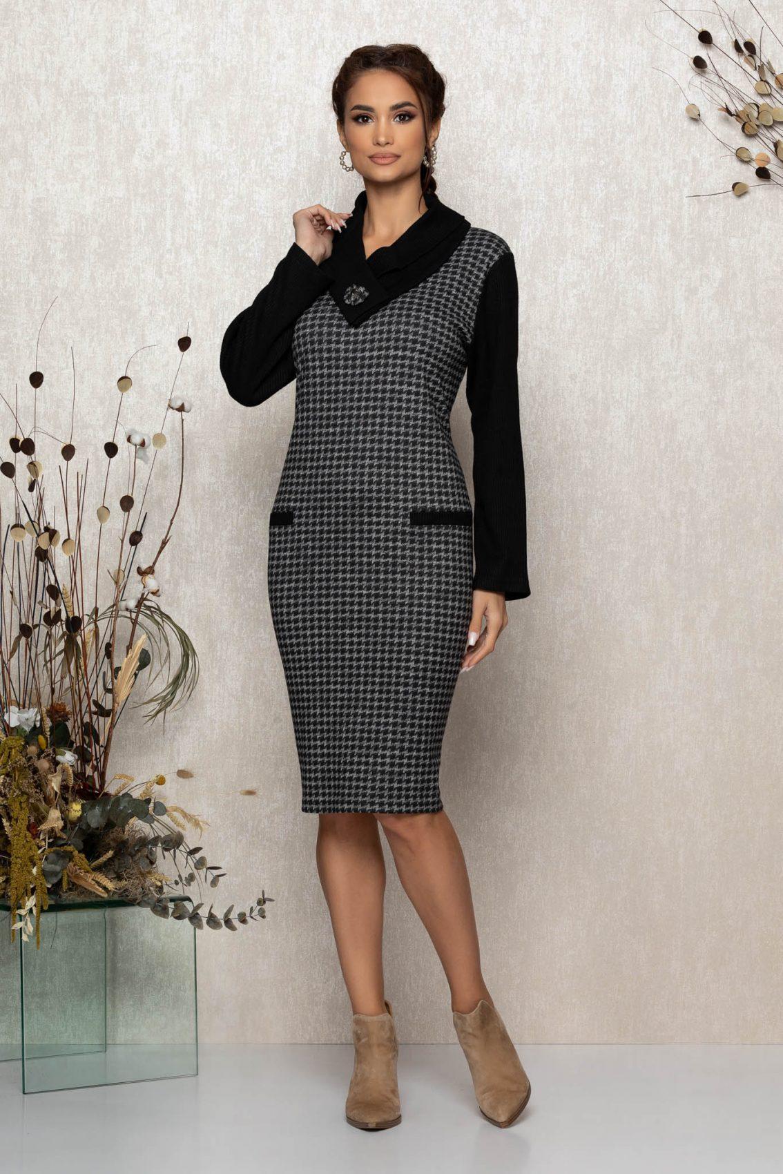 Μαύρο Πλεκτό Φόρεμα Liberty 9391 1