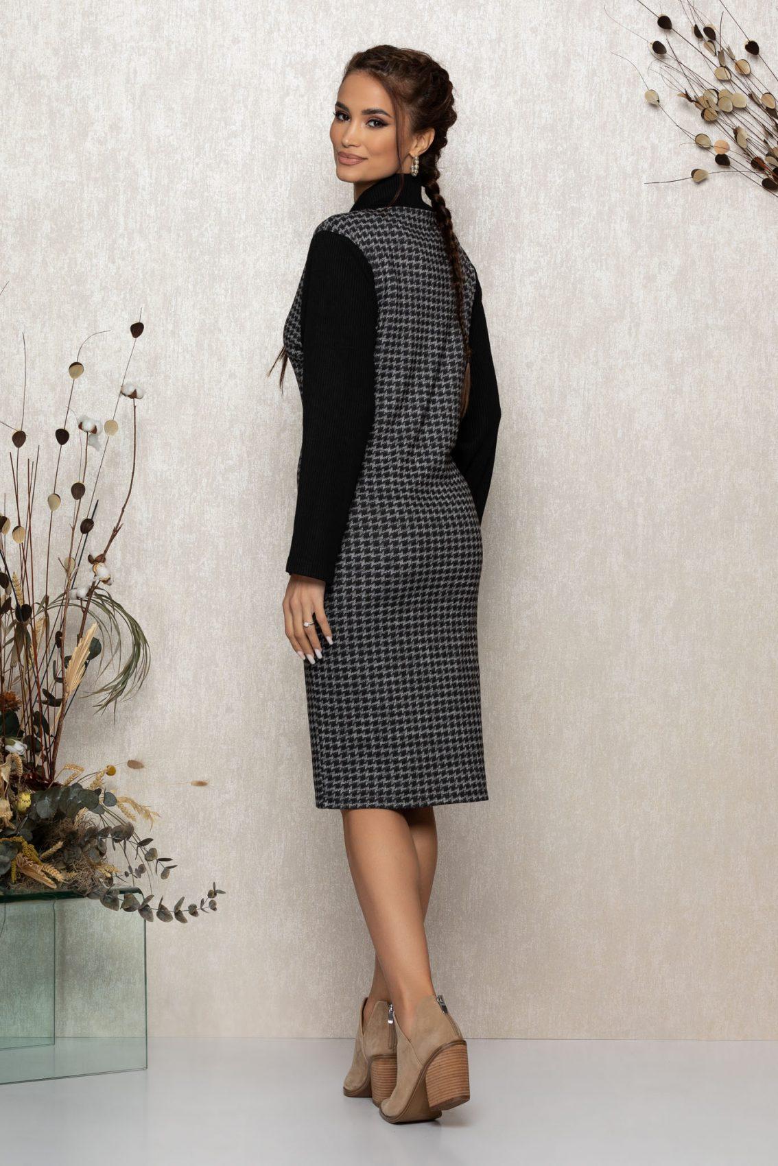 Μαύρο Πλεκτό Φόρεμα Liberty 9391 2