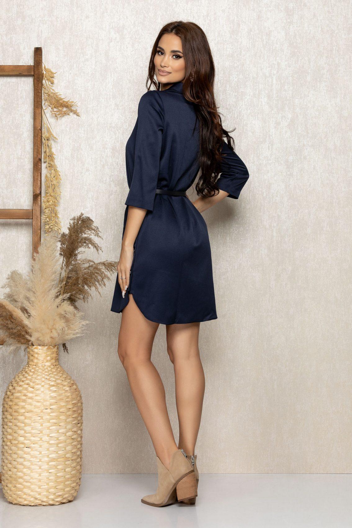 Μπλε Φόρεμα Με Κουμπιά Kenzy 9243 2